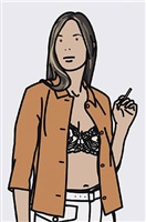 ruth smoking 1 by julian opie