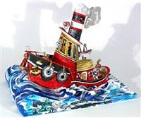 ruckus tugboat by red grooms