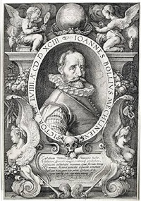 portrait of hans bol, painter at the age of 58 by hendrik goltzius