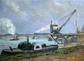 la seine a paris (24) by armand guillaumin