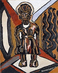 makonde figure by beauford delaney