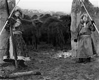 nomads--mengke (age 22) and mengkezhana (age 23), inner mongolia november by a yin
