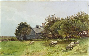 a rhode island farmhouse by william trost richards