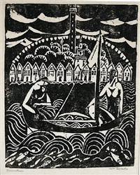 sailing (provincetown) by william zorach