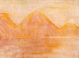 gelbe seelandschaft by christian rohlfs
