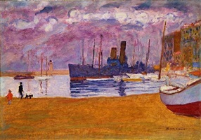 port de cannes by pierre bonnard