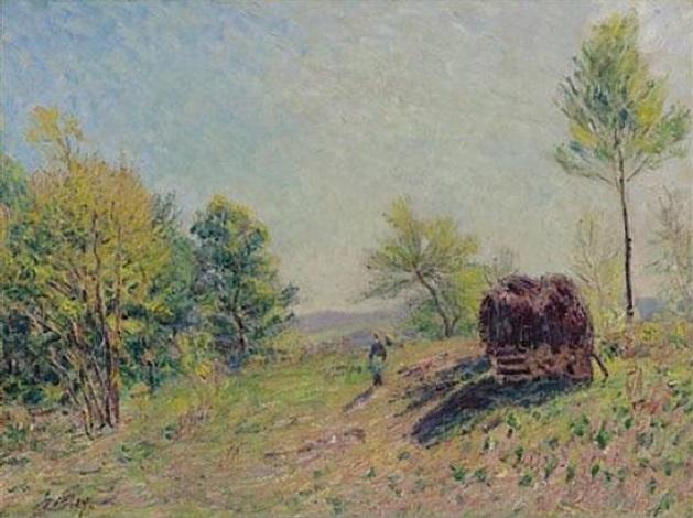 dans le bois au printemps by alfred sisley