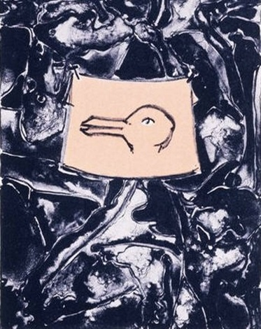 untitled duck for harvey gantt by jasper johns