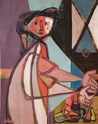 girl with still life by jankel adler