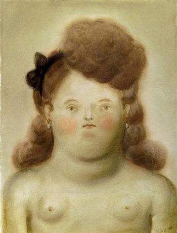 young girl by fernando botero
