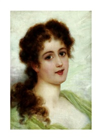 portrait of a girl by i. sabatini