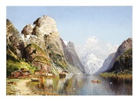village on a fjord by joseph holmstedt