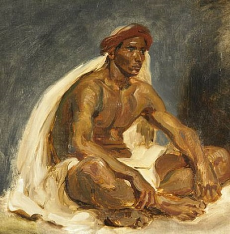 oriental assis / seated oriental by eugène delacroix