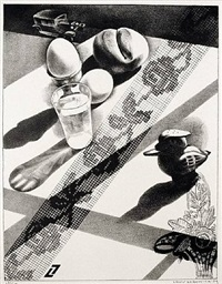 still life with breakfast by louis lozowick