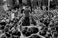 senator robert kennedy at a rally in sioux city, iowa by bill eppridge