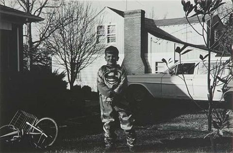 untitled (george depaloi, vienna, va in superman costume) by lee friedlander