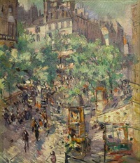 paris: the sevastopol boulevard (sold) by konstantin alexeievitch korovin