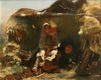 peasant children (sold) by konstantin egorovich makovsky