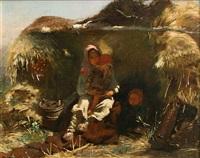 peasant children (sold) by konstantin egorovich makovsky