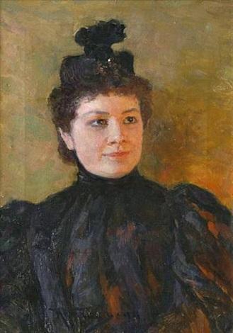 female portrait (sold) by nikolai dmitrievich kuznetsov