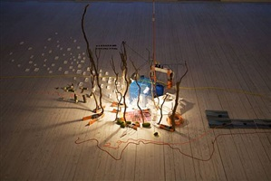 tilting planet by sarah sze
