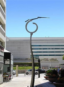sculpture on the plaza on-going exhibition of outdoor sculpture, from garden size to monumental on convention plaza. all works are for sale. by jeffery laudenslager