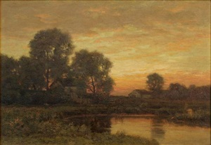 toward the close of day by william crothers fitler