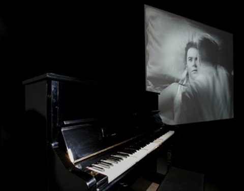 silent movie (installation view) by jonathan horowitz