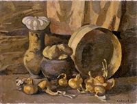 still life with onions by viktor ivanov