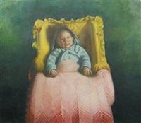 luke in yellow basket by sidney goodman