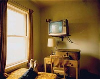 room 125, west bank motel, idaho falls, id, july 18, 1973 © stephen shore by stephen shore