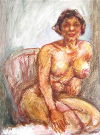 untitled - seated nude by dox thrash