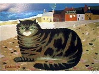 cat on the beach by mary fedden