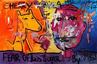 untitled (fear of les super) by bjarne melgaard