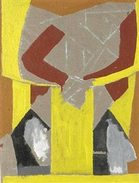 new art salon (design for poster) by david bomberg
