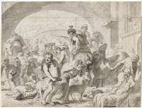 der auszug der israeliten aus ägypten (?) by erasmus quellinus the younger