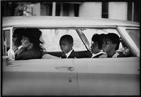 the chaney family as they depart for the burial of james chaney, meridian, mississippi, august 7, 1964. by bill eppridge