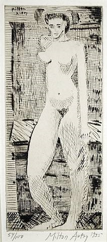 young girl nude by milton avery