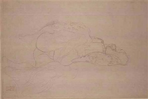 lovers by gustav klimt