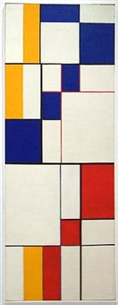 red blue yellow-diagonal passage by leon polk smith