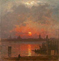 venice at night by john joseph enneking