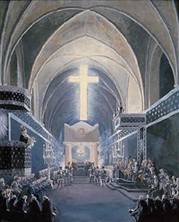 the funeral of the prince of baden at riddarholms church by louis jean desprez