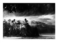 water hosing demonstrators by bob adelman