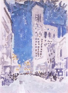 the times tower, west 42nd street by john marin