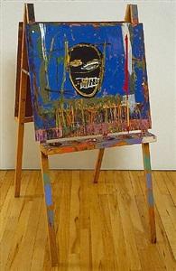 untitled (easel) by jean-michel basquiat