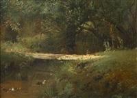 forest river (sold) by konstantin egorovich makovsky