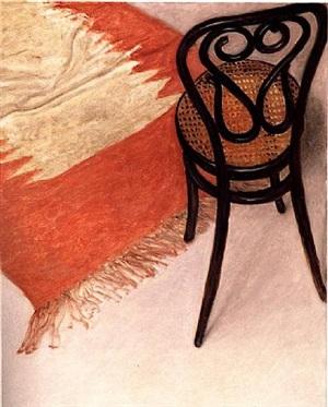 thonet chair and carpet by avigdor arikha