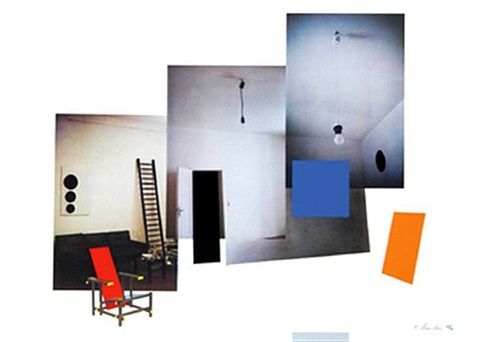 interior with monochromes by richard hamilton