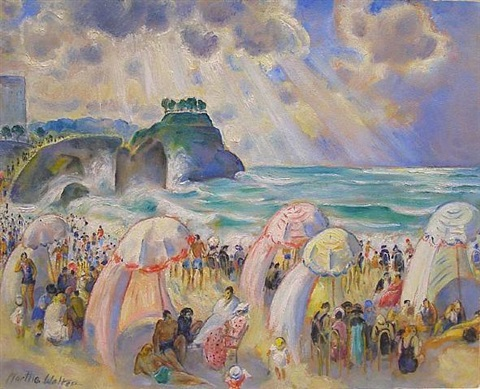 late afternoon at biarritz by martha walter