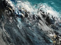 rearing wave by maggi hambling
